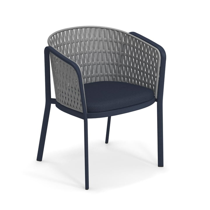 Carousel Armchair Flat 1214, blue / grey from Emu