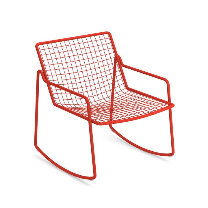Rio R50 rocking chair, scarlet red by Emu
