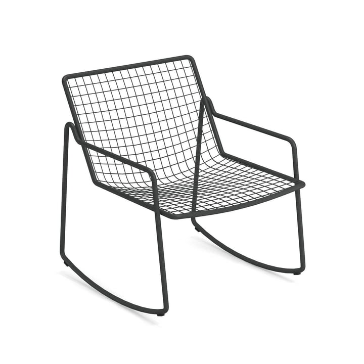 Rio R50 rocking chair, antique iron by Emu