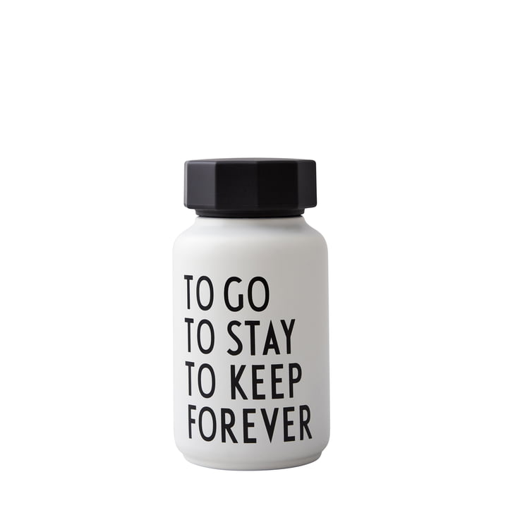 AJ Thermos Bottle Hot & Cold 0.33 l, To Go To Stay To Keep Forever / white (special edition) by Design Letters