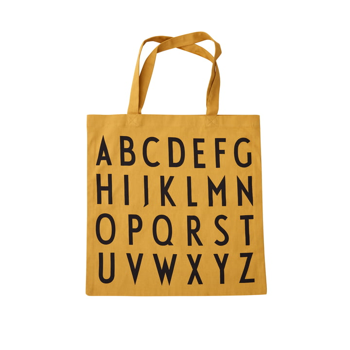 AJ Favourite tote bag, ABC / mustard from Design Letters
