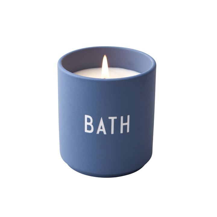 scented candle, Bath / blue from Design Letters