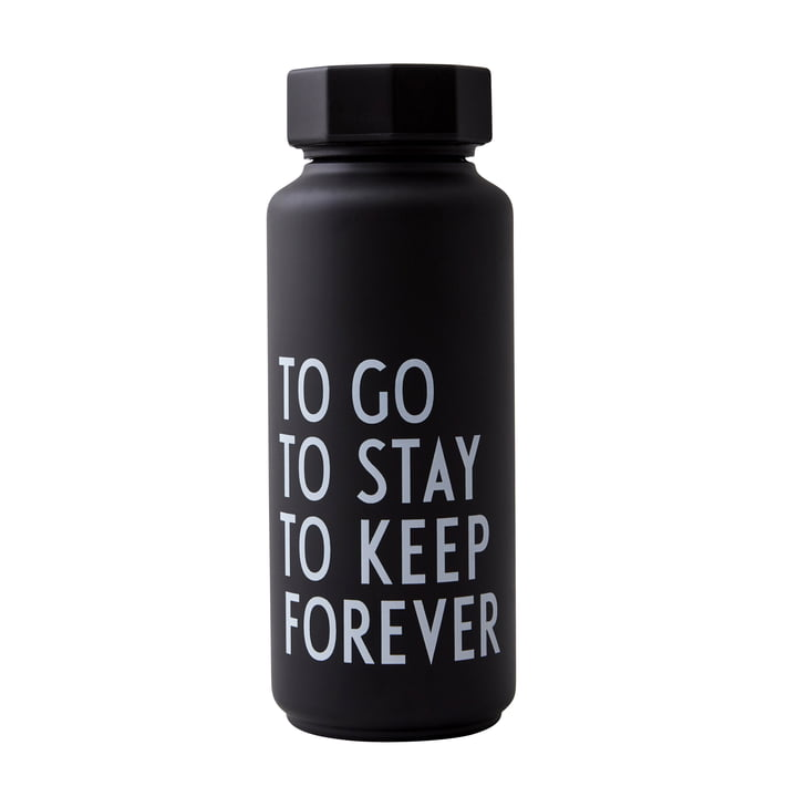 AJ Thermos Bottle Hot & Cold 0.5 l, To Go To Stay To Keep Forever / black (special edition) by Design Letters