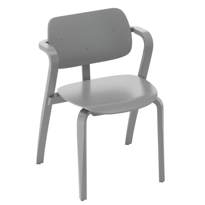 Aslak Chair, painted gray by Artek