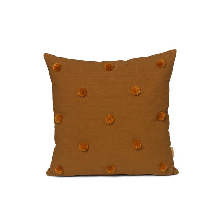 Dot cushion 48 x 48 cm by ferm Living in sugar kelp / mustard