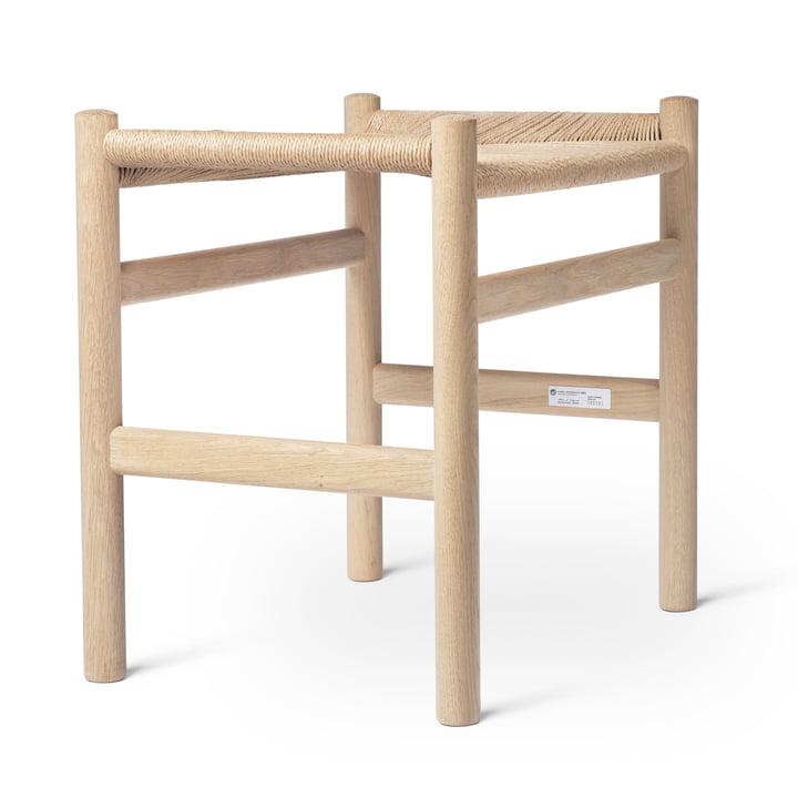 CH53 Stool Carl Hansen in oiled oak / natural wickerwork