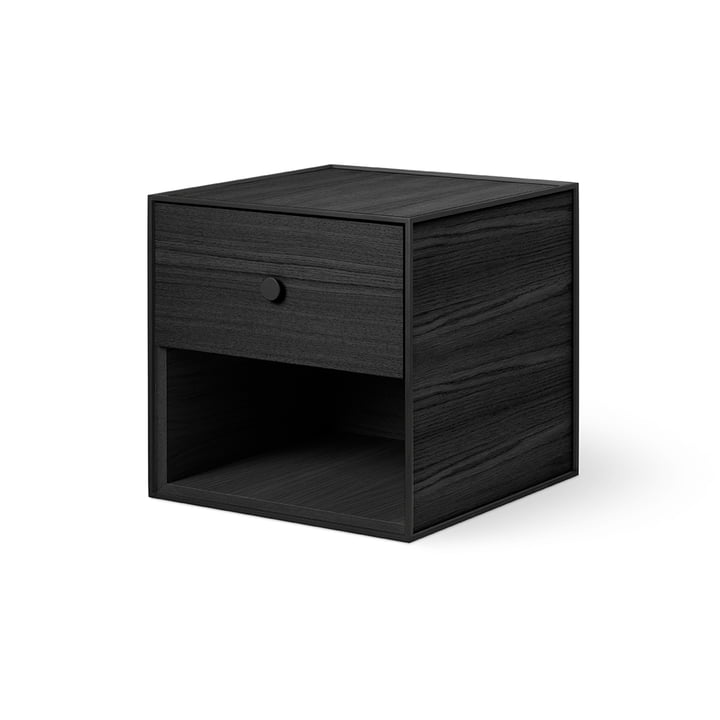 Frame 35 with 1 drawer from by Lassen in ash stained black