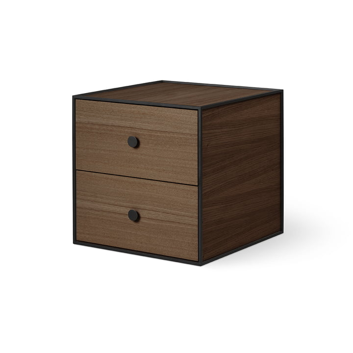 Frame 35 with 2 drawers of by Lassen smoked in oak