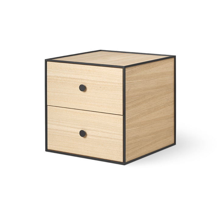 Frame 35 with 2 drawers from by Lassen in oak