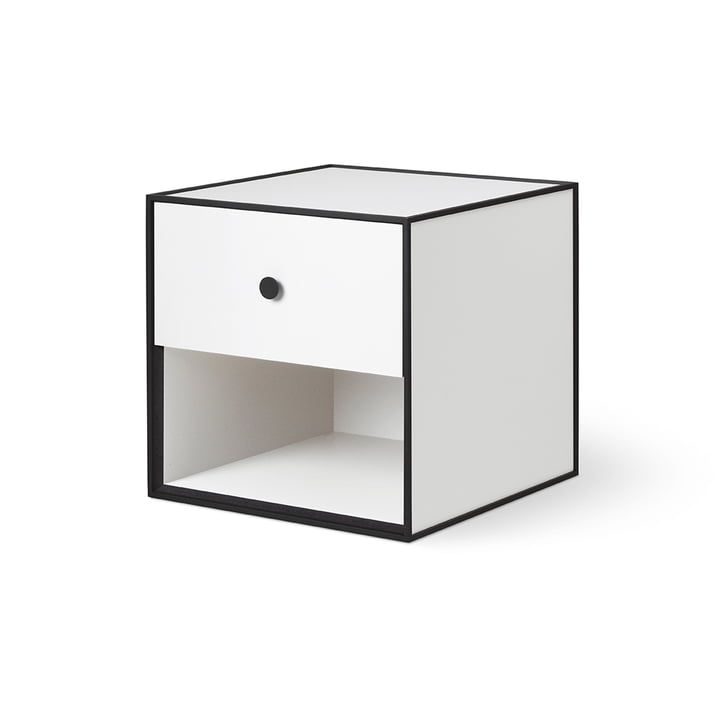 Frame 35 with 1 drawer from by Lassen in white