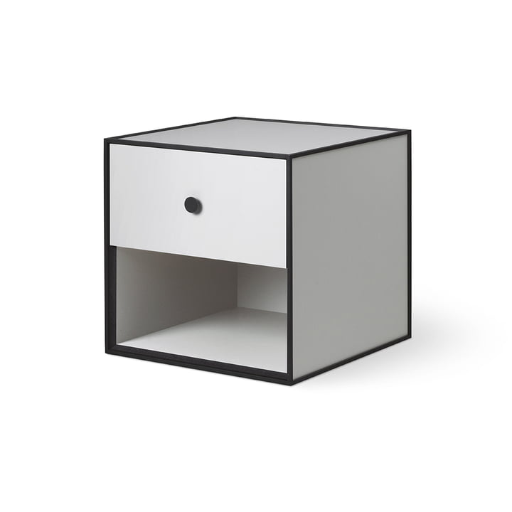 Frame 35 with 1 drawer from by Lassen in light grey