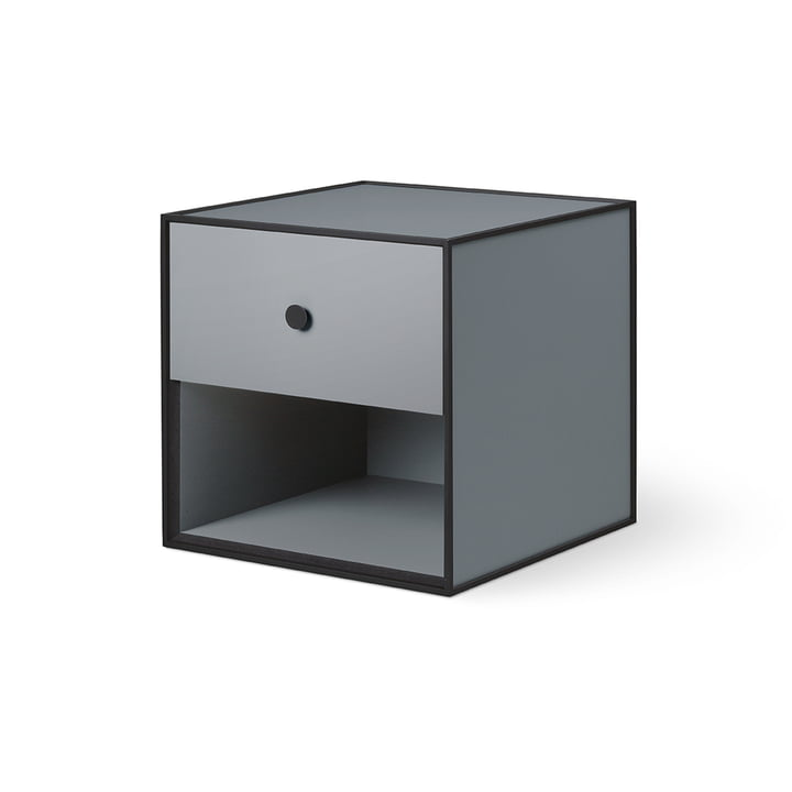 Frame 35 with 1 drawer from by Lassen in dark grey