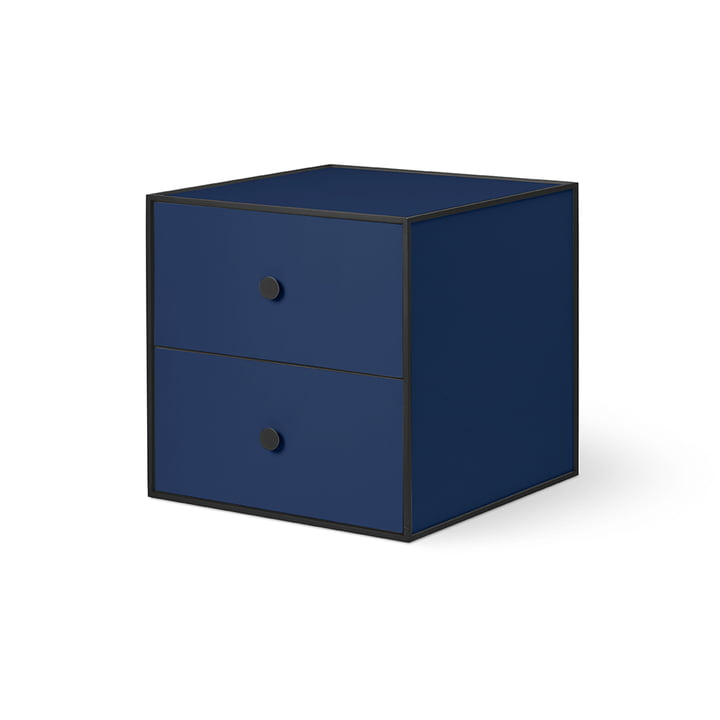 Frame 35 with 2 drawers from by Lassen in dark blue