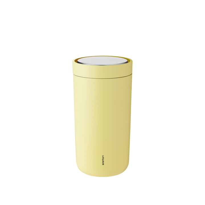 To Go Click 0.2 l double-walled from Stelton in soft yellow