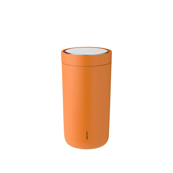 To Go Click 0.2 l double-walled from Stelton in soft orange