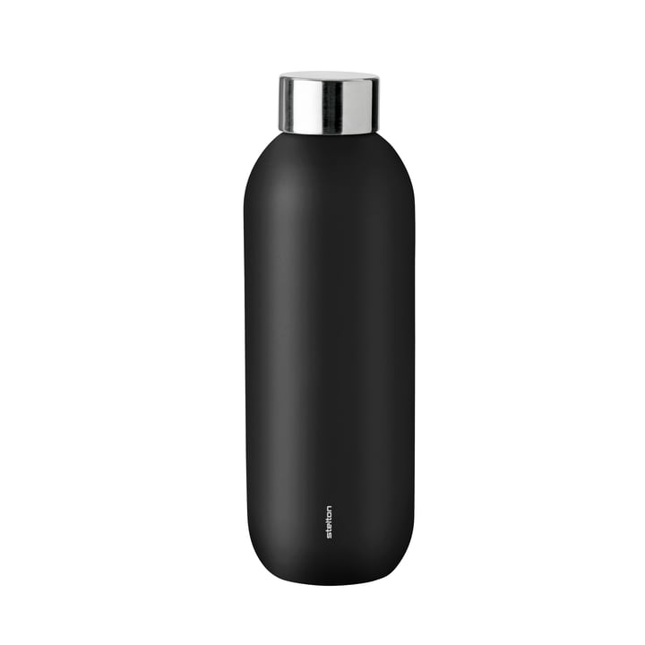 Keep Cool Drinking bottle 0,6 l from Stelton in black