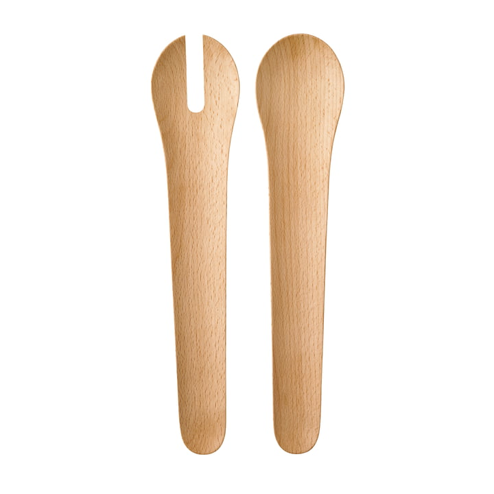 Toss-It salad servers from Rig-Tig by Stelton in beech