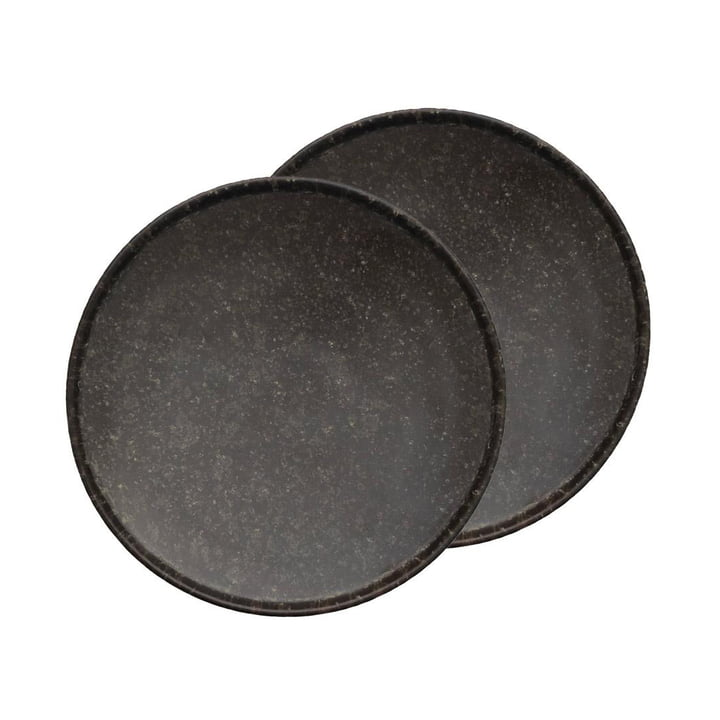 Inka Plate Ø 16 cm from OYOY in brown (set of 2)