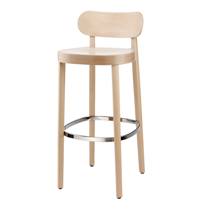 118 H Bar chair from Thonet stained beech (TP 107 lightened) / seat: trough seat