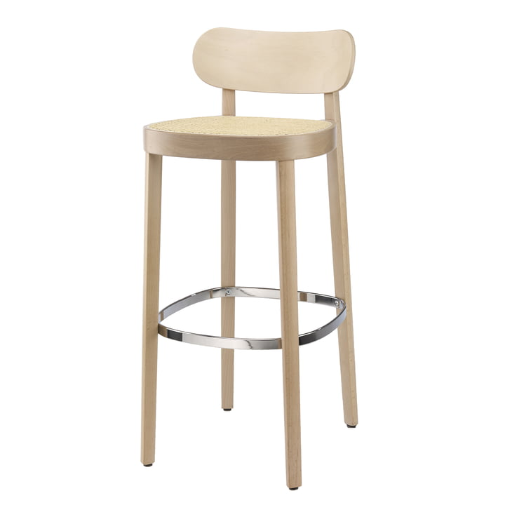 118 H Bar chair Thonet in stained beech (TP 107 lightened) / seat: wickerwork natural