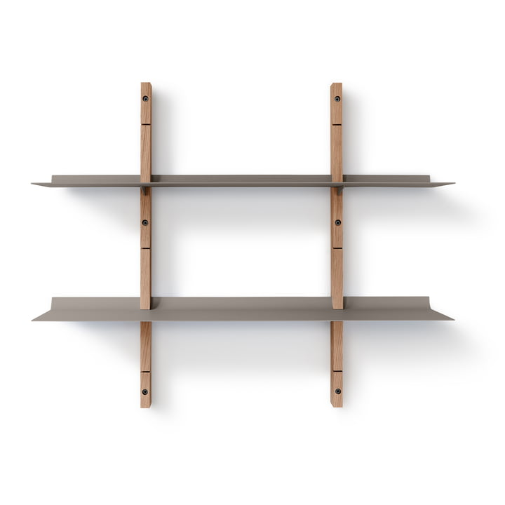 Smile shelving system set small from Eva Solo in oak / grey