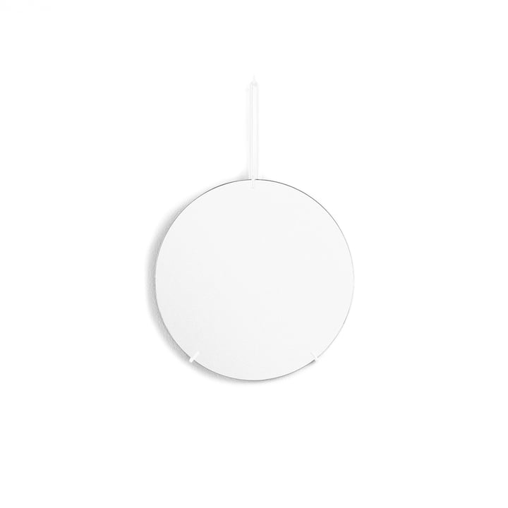 wall mirror Ø 30 cm from Moebe in white