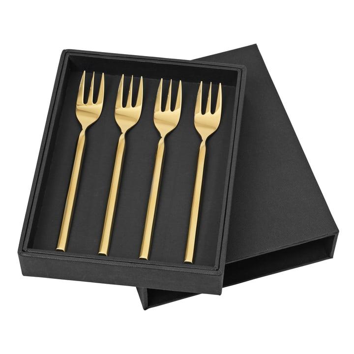 Tvis Cake fork, gold (4 pcs.) from Broste Copenhagen