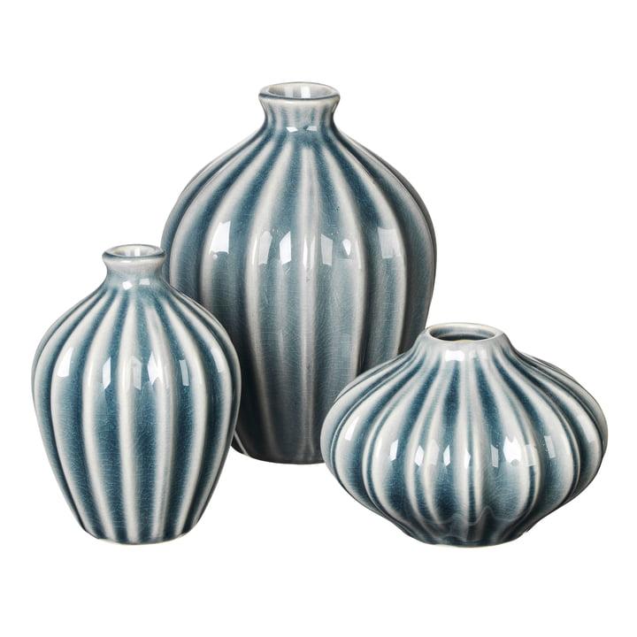 Amalie Vase, blue mirage (set of 3) from Broste Copenhagen