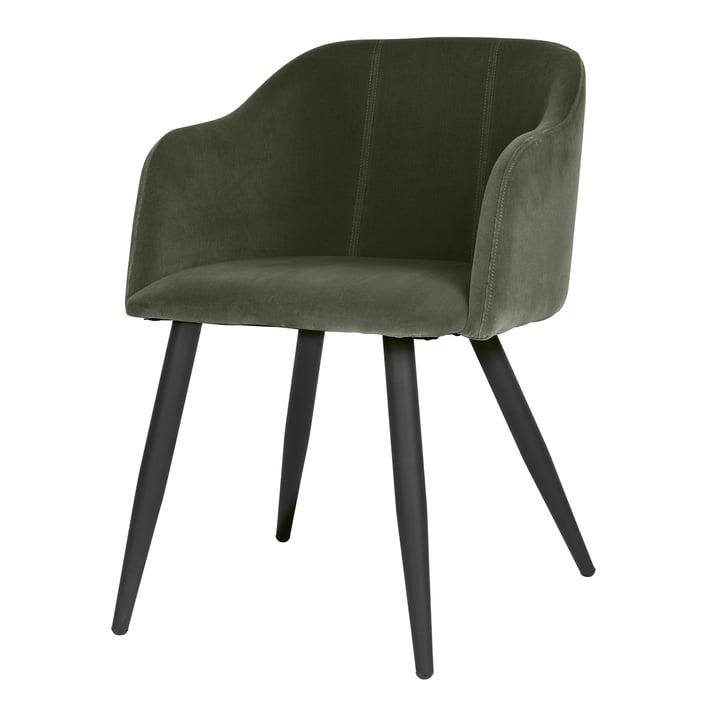 Pernilla Upholstered chair, matt black / grape leaf from Broste Copenhagen