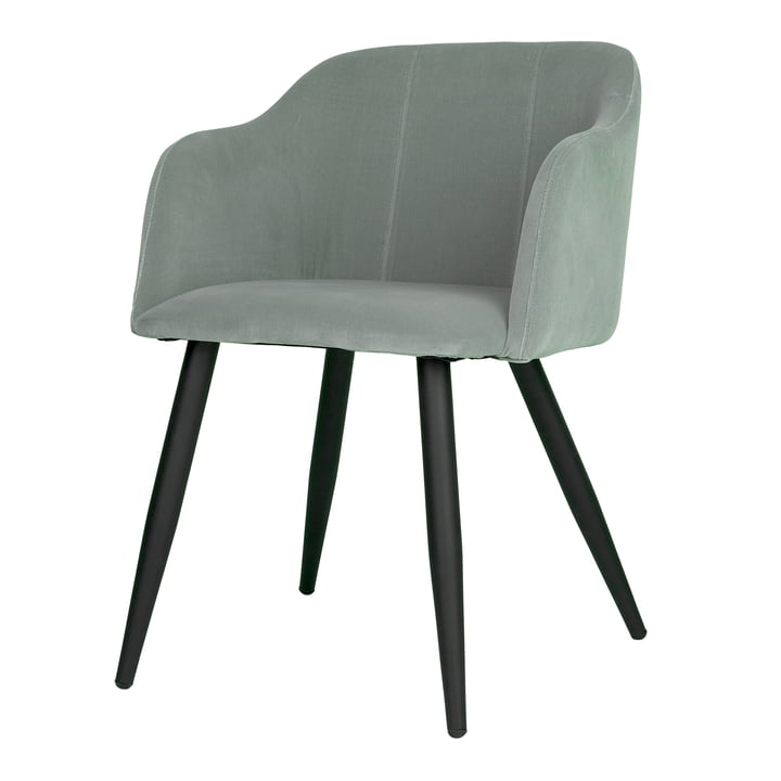 Pernilla Upholstered chair, matt black / chinois green by Broste Copenhagen