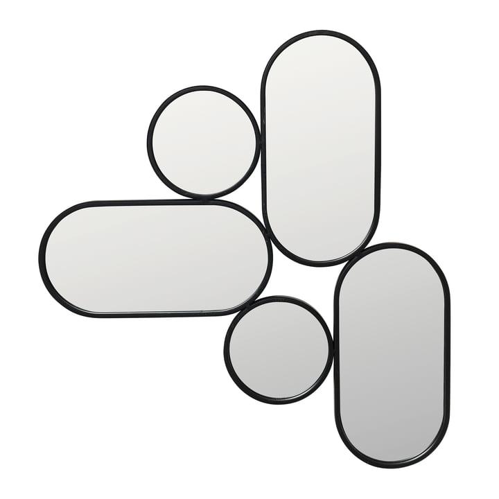 Parko Mirror, black from Broste Copenhagen