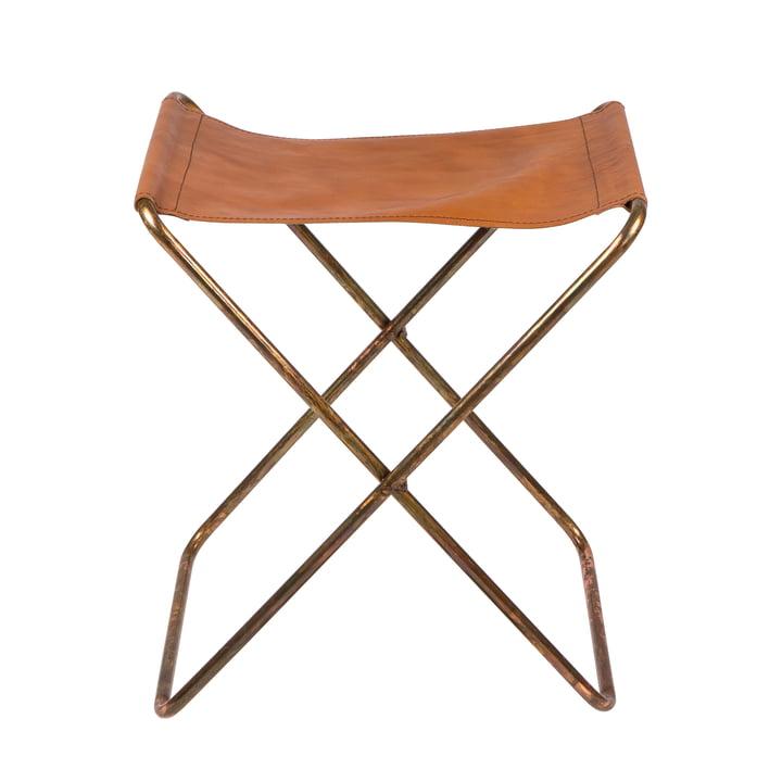 Nola Folding stool, copper / antique from Broste Copenhagen