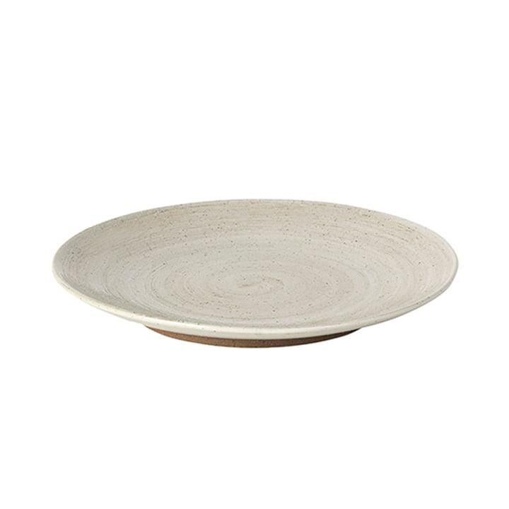 Grød Dessert plate, Ø 20 x H 2,4 cm, sand from Broste Copenhagen