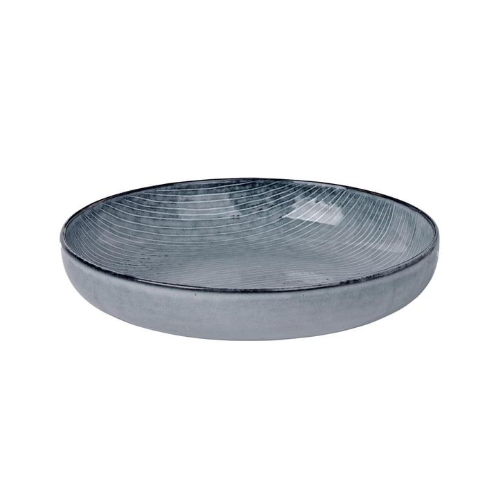 Nordic bowl deep, Ø 22.5 x H 4.8 cm, sea by Broste Copenhagen