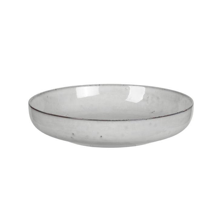 Nordic bowl deep, Ø 22.5 x H 4.8 cm, sand by Broste Copenhagen