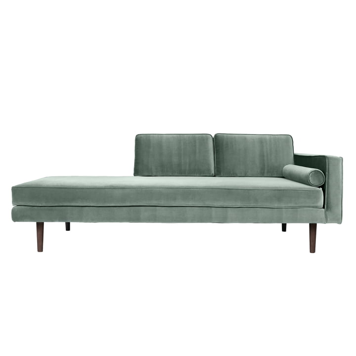 Wind Chaise Longue, armrest right, chinois green by Broste Copenhagen