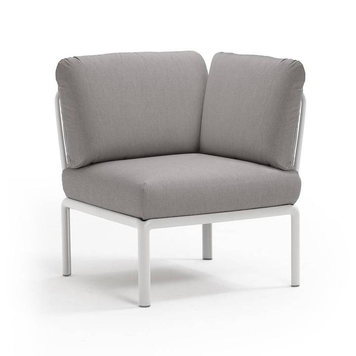 Komodo modular sofa corner element from Nardi in white / grey
