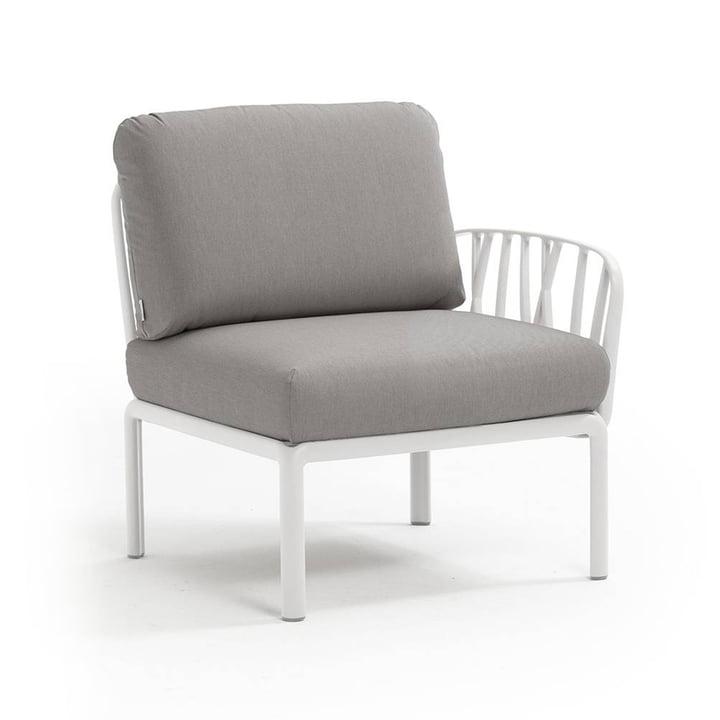 Komodo modular sofa side element from Nardi in white / grey