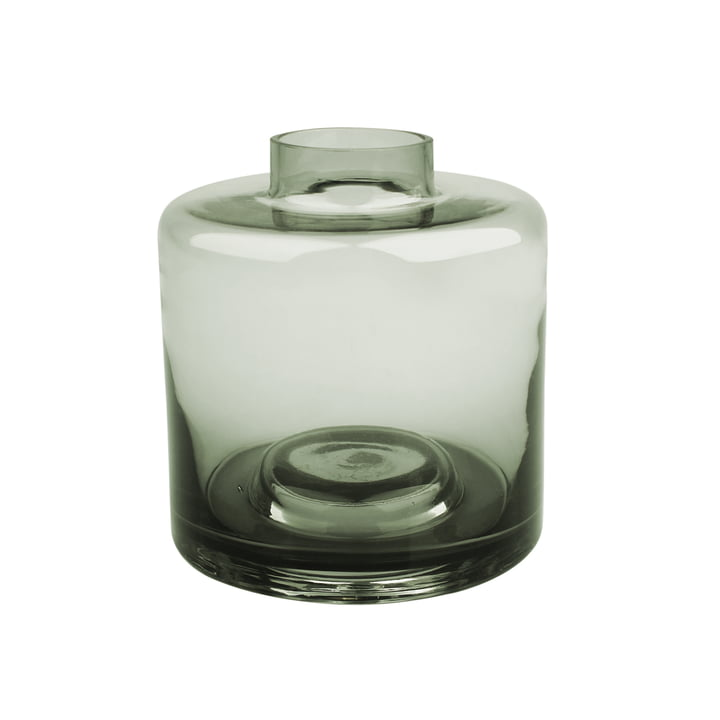 Stackable Vase Ø 14 x H 15 cm, grey-green from Connox Collection