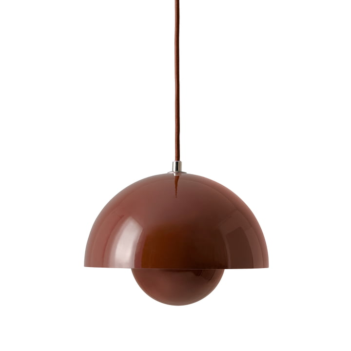 FlowerPot Pendant light VP1 from & Tradition in red-brown