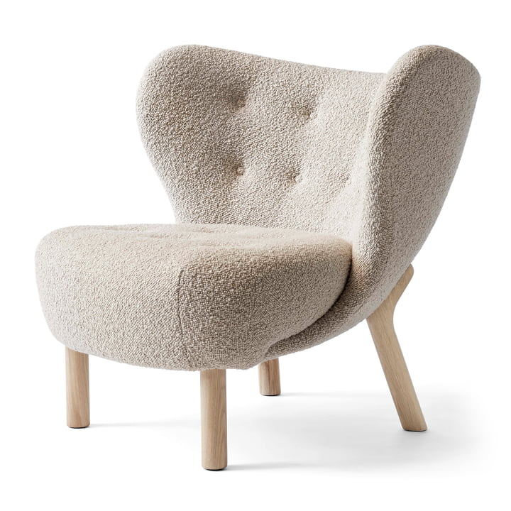 Little Petra VB1 Lounge Chair from & tradition in white oiled oak / Karakorum 003