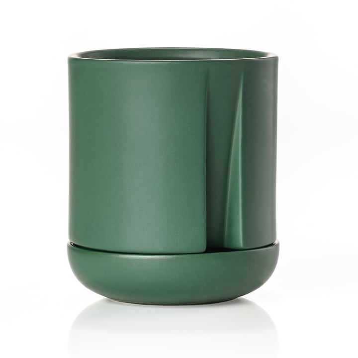 Self-watering herb pot Herb & Sprout Ø 1 1. 5 x H 1 3. 6 cm from Zone Denmark in jungle green
