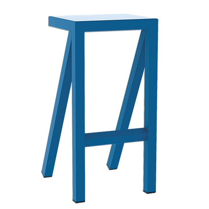 Bureaurama kitchen stool H 62 cm from Magis in blue
