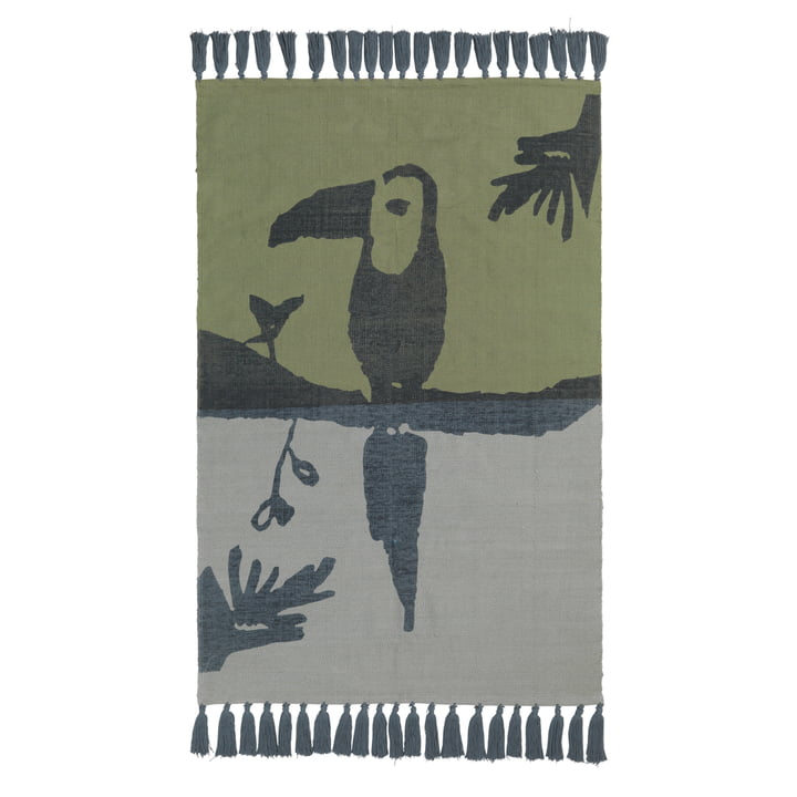 Toucan children carpet from Nofred in petrol blue