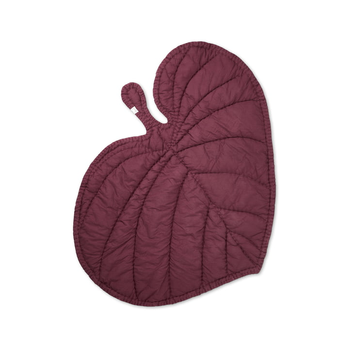 Leaf Playing blanket from Nofred in burgundy
