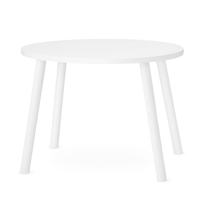 Mouse Children's table oval 64 x 46 cm from Nofred in white