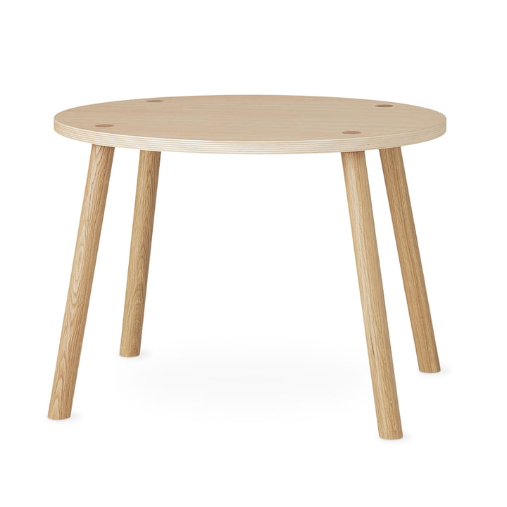 Mouse Children's table oval 64 x 46 cm from Nofred in oak matt lacquered