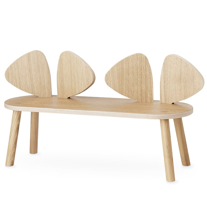 Mouse Children's bench from Nofred in oak matt lacquered