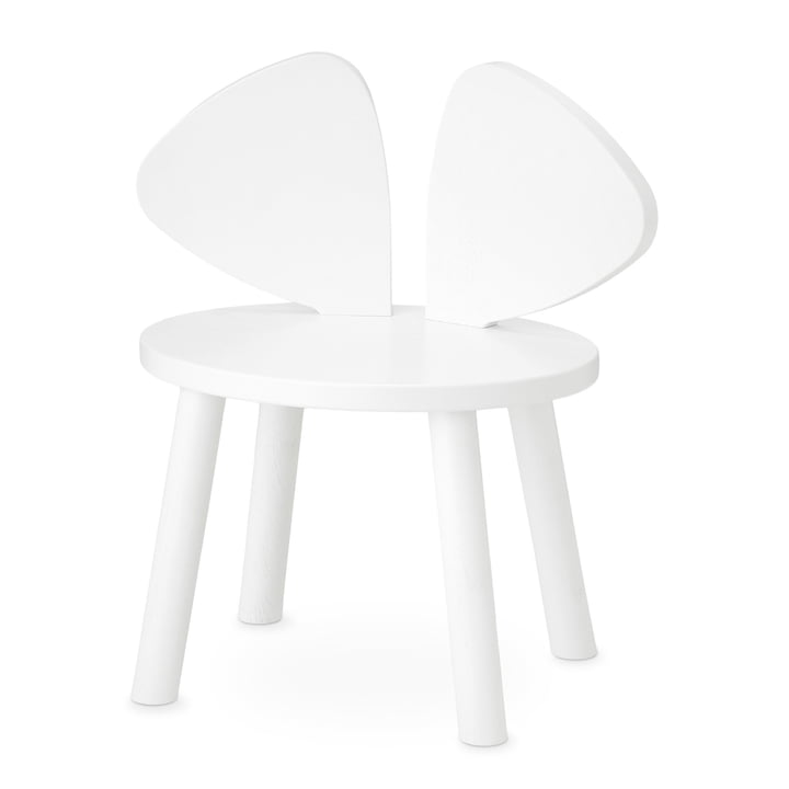 Mouse Kids chair from Nofred in white