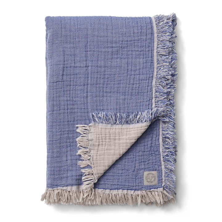 Collect SC32 Woolen blanket 140 x 210 cm from & tradition in cloud / blue